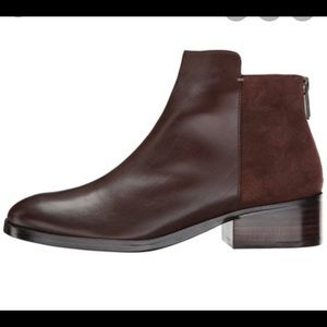 Cole Haan Elion Bootie, 9.5. Brown leather & suede